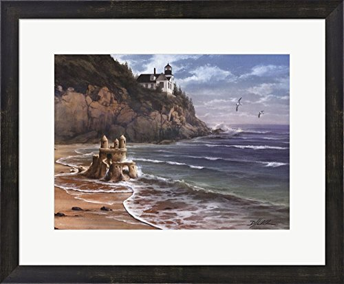 Wise and Foolish Builders by Danny Hahlbohm Framed Art Print Wall Picture, Espresso Brown Frame, 23 x 19 inches ()