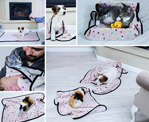 Aniwhere - Dog Blanket - Cat Throw - 2 Blankets in 1 Mod - Travel Kit Drawstring Backpack Pet Plush Toy - Perfect to Snuggle Keep Warm - Cuddle Pouch Wrap Mod-Ebook (Large/Medium) by Aniwhere (Image #3)