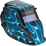 Klutch Variable-Shade Auto-Darkening Welding Helmet with Grind Mode - 700 Series, Blue Flame