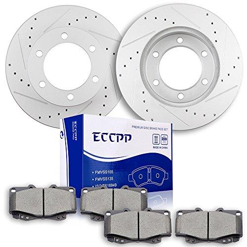- Brake Rotors Pads Kits,ECCPP Front 2pcs Discs Brake Rotors and 4pcs Ceramic Pads Brake Kit for Toyota Tacoma 1999 2000 2001 2002 2003 2004