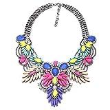 efigo Fashion Statement Necklace Choker Collar Bib Necklace Vintage Boho Costume Jewelry for Women Girls
