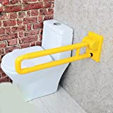 WAWZJ Handrail Thickening Barrier Free Folding Armrest Disabled Elderly Toilet Toilet Bathroom Nylon Handrail,Yellow
