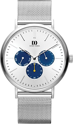 Danish Design Mens Multi dial Quartz Watch with Stainless Steel Strap IQ62Q1233 ()