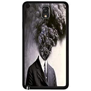 Black and White Hot Temper Head Explosives Hard Snap on Phone Case (Note 3 III)