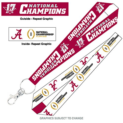 Alabama Crimson Tide Official NCAA 2017 National Championship Champs Keystrap Lanyard Keychain by Wincraft 977960 (Alabama Mascot Costume)