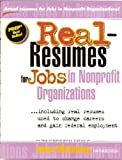 Real-Resumes for Jobs in Nonprofit Organizations (Real-Resumes Series)