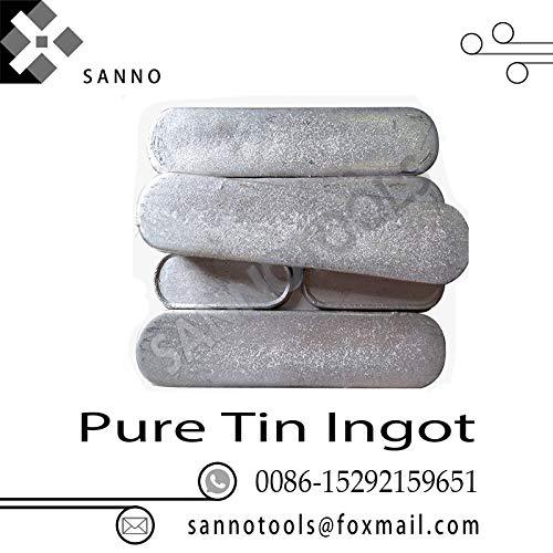- FINCOS Best price high purity materials 99.99% Sn pellet Tin granule and Pure Tin Ingot for photonics, electronics, giass decoration - (Insert Width(mm): tin granules, Shank Diameter: 500 gram)