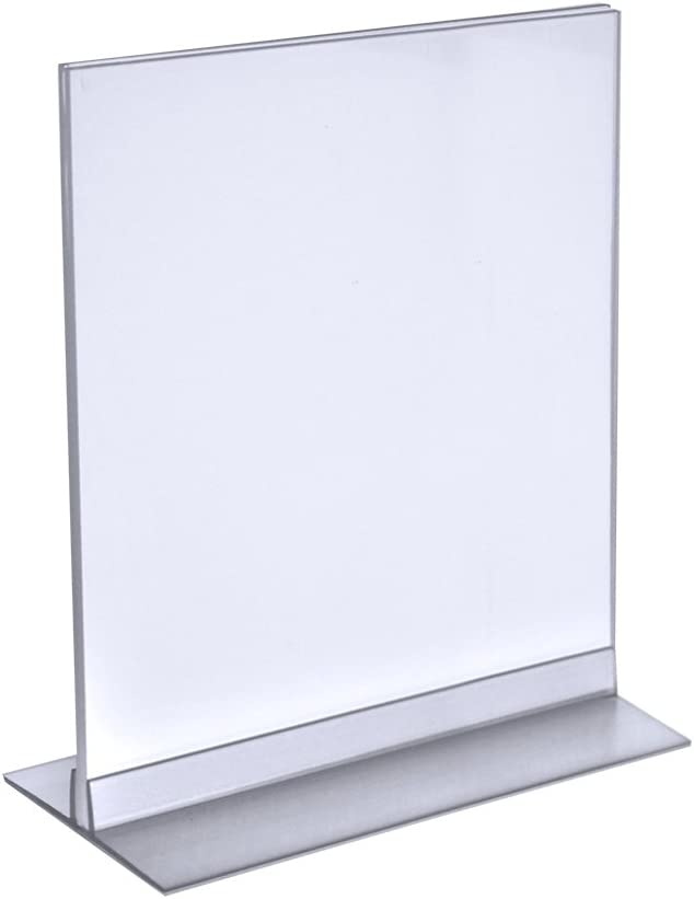 Azar 102714 8.5-Inch Width by 11-Inch Height Vertical/Horizontal Double Foot Sign Holder, 10-Pack