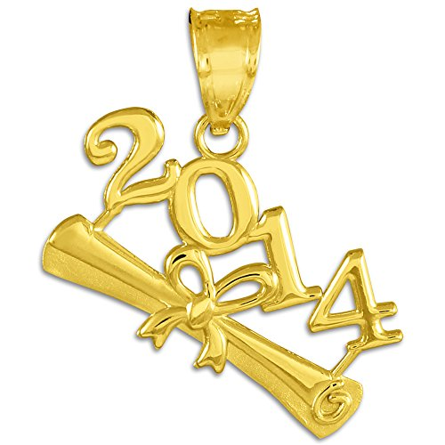 "10 ct 471/1000 ""Classe de 2014""-Graduation Or Pendentif"