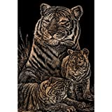Bulk Buy: Royal Brush Copper Foil Engraving Art Kit 8''X10'' Tiger & Cubs COPF-12 (3-Pack)