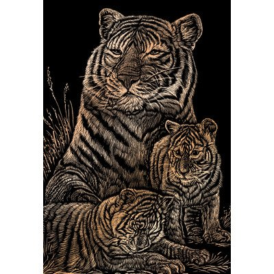 Bulk Buy: Royal Brush Copper Foil Engraving Art Kit 8''X10'' Tiger & Cubs COPF-12 (3-Pack) by Royal & Langnickel