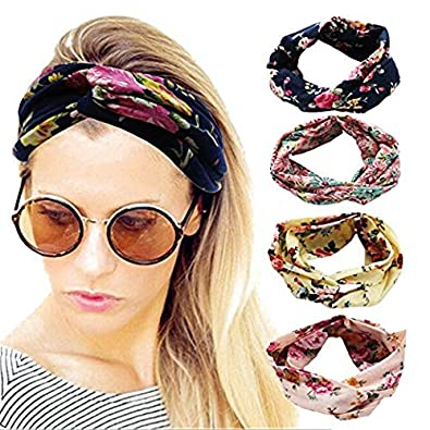 Fashion Wide Patchwork Cotton Headband For Women Lady Plain Fabric Yoga Sport Elastic Hairband Turban Headwrap Hair Accessories Apparel Accessories
