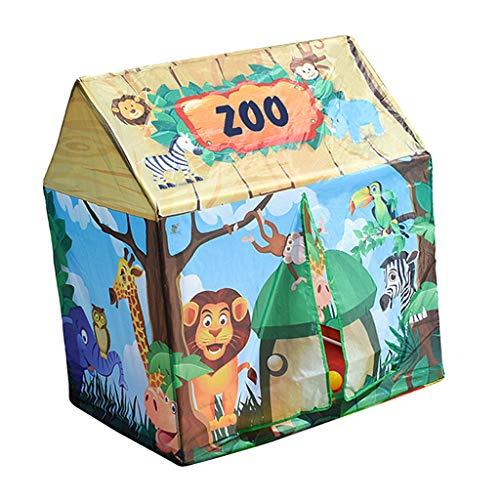 MagiDeal Carpa Plegable Tienda de Campaña Infantil Casa de Juego en Forma de Castillo para Niños Niñas - #4