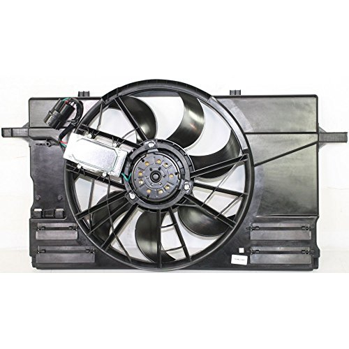 Radiator Fan Assembly for Volvo S40 04-11/C30 08-13 Single Includes Control -