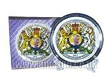 Diamond Jubilee 2012 Decorative Porcelain Plate 10cm - H M Queen Elizabeth II