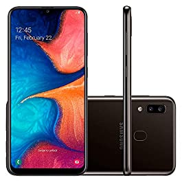 Samsung Galaxy A20 US Version Factory Unlocked Cell Phone with 32GB Memory, 6.4″ Screen, [SM-A205UZKAXAA], 12 Month Samsung US Warranty, GSM & CDMA Compatible, Black