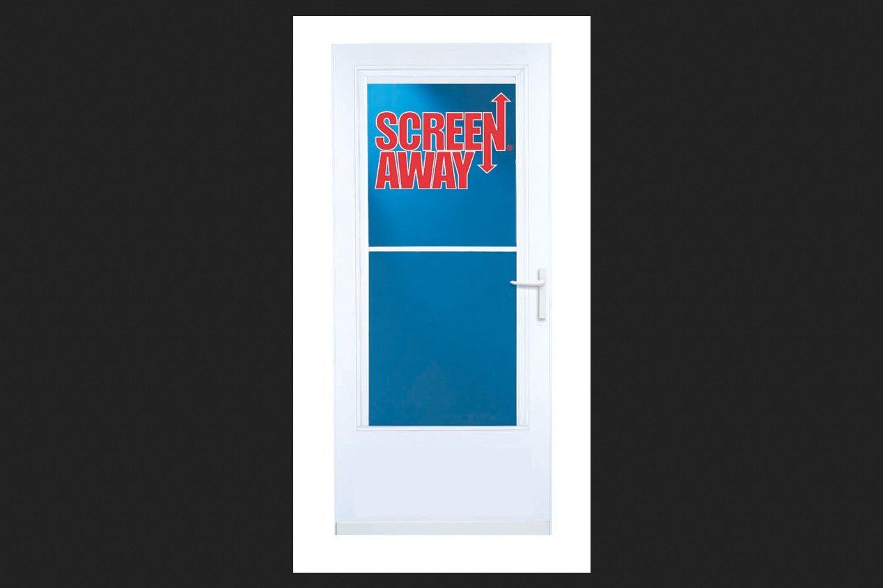 Larson 37081032 37081 36wht storm door screen doors amazon vtopaller Gallery