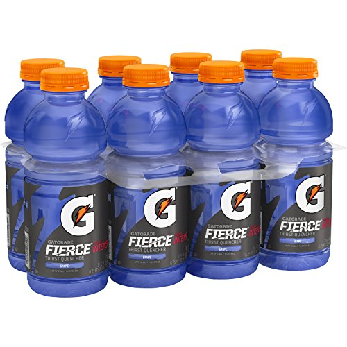 Gatorade Thirst Quencher, Fierce Grape, 20 Ounce (Pack of 8) ()