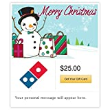 Dominos Shopping Snowman Gift Cards - E-mail Delivery