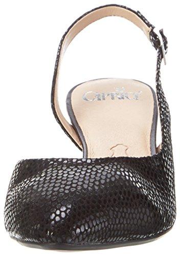 Caprice 29603, Sandalias con Cuña Mujer Negro (Black Reptile)