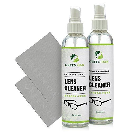 Lens Cleaner Kit – Green Oak Premium Lens Cleaner Spray for Eyeglasses, Cameras, and Other Lenses - Gently Cleans Bacteria, Fingerprints, Dust, Oil (2 Pack) by Green Oak