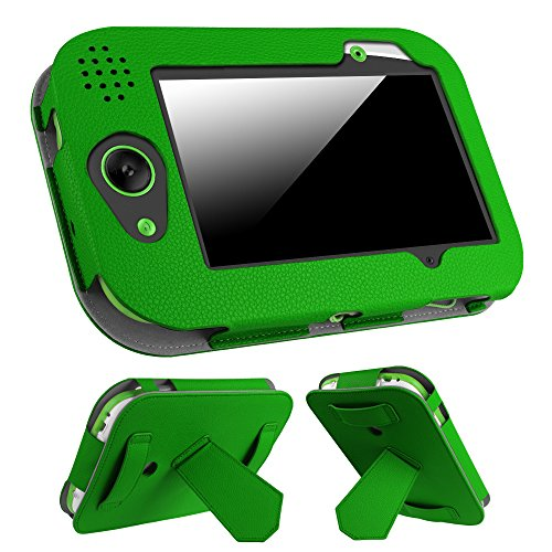 Fintie Leapfrog LeapPad Platinum/LeapPad Ultra XDI/LeapPad Ultra 7-Inch Tablet Case - Premium Vegan Leather Standing Cover with Car Headrest Mount Holder Function Kids Learning Friendly, Green