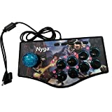 ElementDigital® Fighting Stick, Arcade Joystick Game Stick with 8 Action Buttons for PS2/PS3/PC
