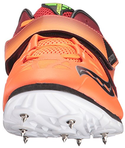 Saucony Mens Soarin J2 Track Shoe Red/Vizi Orange rAgXEW5ve