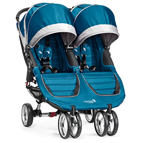 Baby Jogger City Mini Double Stroller - 2016 | Compact, Lightweight Double Stroller | Quick Fold Baby Stroller, Teal/Gray (Baby Jogger Fit Stroller)