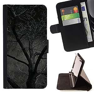 Momo Phone Case / Flip Funda de Cuero Case Cover - Noche Árbol Bosque asustadizo de Halloween - Sony Xperia Z2 D6502