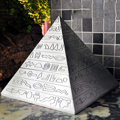 C & S CS Pyramid Retro Household Large Ashtray with Cover Creative Personality Trend Multifunctional Fashion Gift for Boys (Size : L)