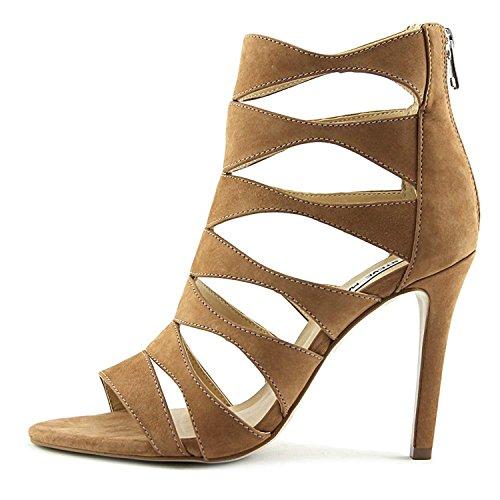 Casual Womens Sandals Toe Madden Nubuck Tan Swyndlee Open Leather Steve Strappy BYxq5w8x