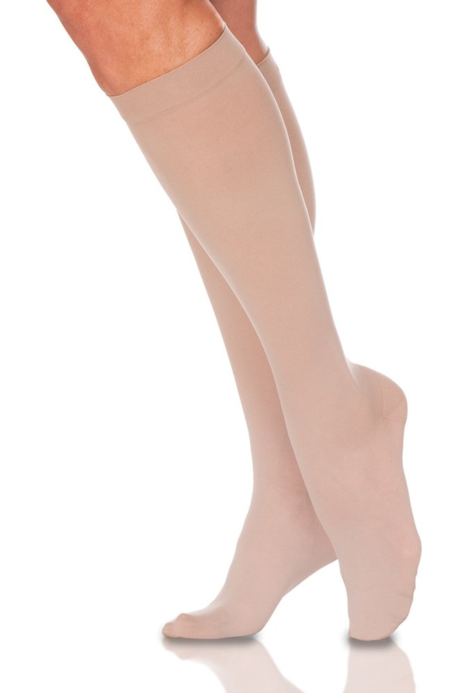 Sigvaris EverSheer 781CMSW33 15-20 Mmhg Closed Toe Medium Short Calf Hosiery For Women, Natural by Sigvaris B0053V56BO