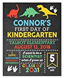 First Day of School Paper Art Print | First Day of School Sign | First Day Chalk | Kid First Day Sign | First Day of Kindergarten | Boys First Day of School | First Day of School Boy Sign
