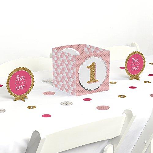 Centerpiece Party Table Birthday (1st Birthday Girl - Fun to be One - Birthday Party Centerpiece & Table Decoration Kit)