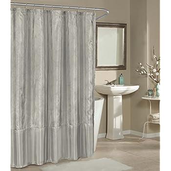 Amazon.com: CafePress - Metallic Silver Shower Curtain ...