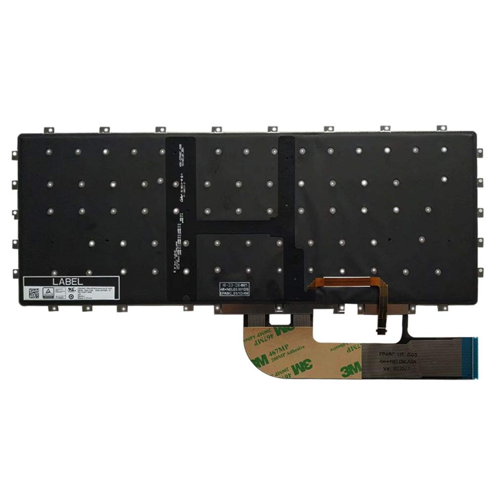 Laptop Replacement Keyboard Fit Dell XPS 15 9575 7590 0HC1GN PK13247A00 US Layout