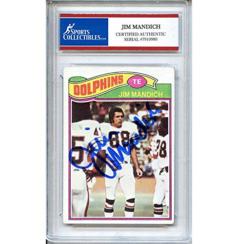 (Jim Mandich Autographed Signed 1977 Topps Trading Card - Certified Authentic)