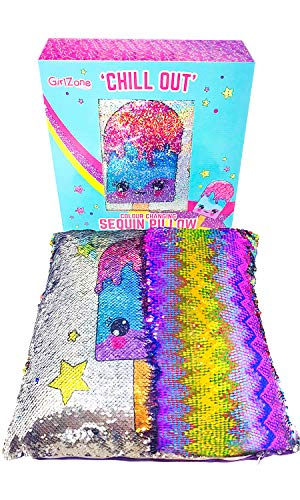Age Birthday Gift - Sequin Pillow Gift for Girls - Magical Reversible Sequin Pillow (Including Insert) for Girls Bedroom Décor - Great Birthday Gifts for Girls of All Ages
