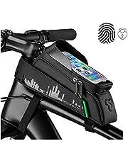"""ROCKBROS Bolsa Cuadro de Bicicleta para Tubo Superior Manillar Impermeable con Pantalla Táctil para Teléfono Móvil 6,0"""" para Bicis MTB Bici de Carretera"""