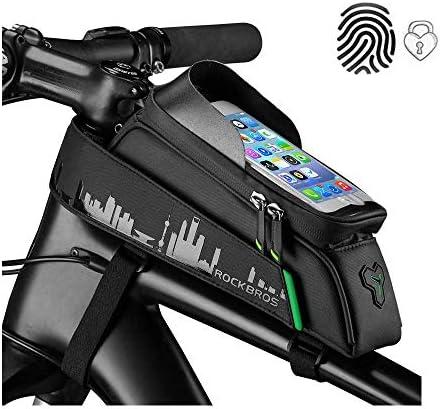 """ROCKBROS Bolsa de Cuadro Tubo Superior de Bicicleta Montaña MTB Impermeable con Pantalla Táctil para Móvil de 5,8""""/6,0"""" para iPhone X XS MAX 7 8 Plus Galaxy S9 Note7"""