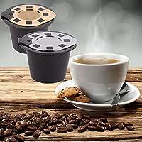 Yisily Chapado En Oro De Acero con Tapa De Cápsulas De Café Nespresso para Cafetera De Filtro Reutilizable Ecológica 3-5 G Grounds Coffee: Amazon.es: Hogar