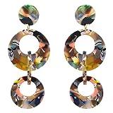 CHUYUN Fashion Acrylic Earrings Natural Fashion Street Beat Geometric Earrings Jewelry