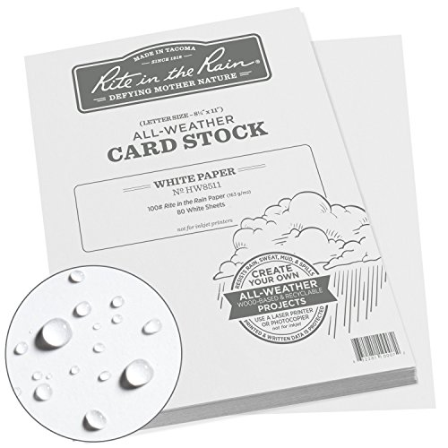 Rite in the Rain All Weather Card Stock, 8.5