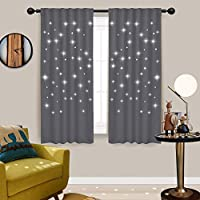 Gray Bedroom Hollow Star Curtains - NICETOWN Naptime...