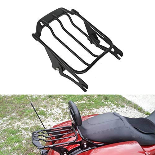 TCT-MT Luggage Rack Detachable Two Up Air Wing Rack Fit For Harley Touring Models Street Road King Glide 2009-2019 FLHR FLHX FLTR Ultra Classic FLHTCU FLHTK FLHT ()