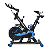 Cheap NexHT Fitness Exercise Cycle Bike (89103A) Indoor Workout Cycling Bike w/LCD Monitor& Heart Pulse Sensors,Max User Weight:280lbs,Full Adjustable Health Sport Trainer Stationary Bicycle -Blue