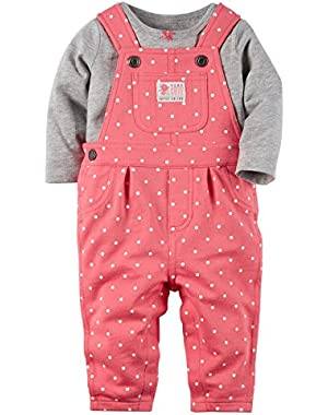 Baby Girls' T-Shirt and Overall Set