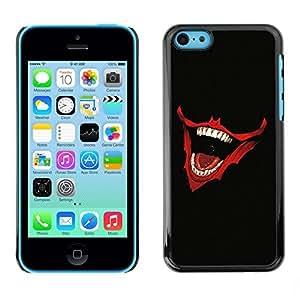 NUMO Slim Sleek Case Cover Armor Polycarbonate Aluminium / Laughing Joker Mouth / Apple Iphone 5C