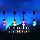 Mthinkor Solar String Light Waterproof 12 Crystal Balls Solar Powered Fairy Lighting for Garden, Patio, Yard, Home, Parties, Warm White/Multiple Color